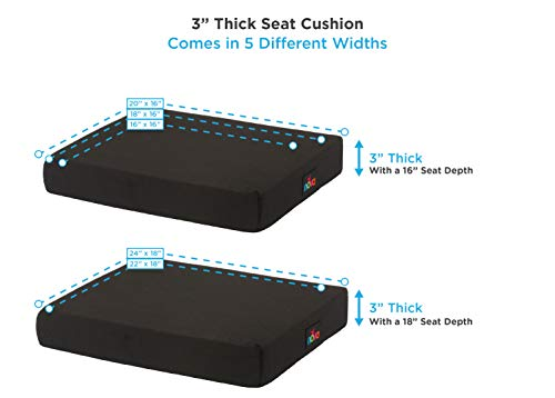 Nova Gel & Memory Foam Seat & Wheelchair Cushion In 8 Sizes (From 16� X 16� To 18� X 24� Ext