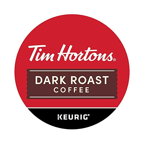 Tim Horton's Dark Roast Coffee K Cups, Compatible With Keurig K Cup Coffee Makers, 24 Count