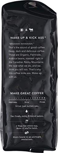 Kicking Horse Coffee, Kick Ass, Dark Roast, Whole Bean, 10 oz - Certified Organic, Fairtrade, Kosher Coffee