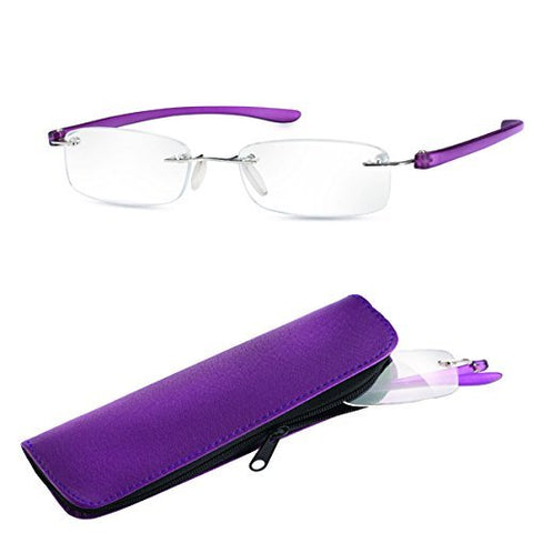 Eschenbach +4.00D Ready Reading Glasses - Purple Frame Small