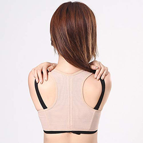 Jmung Back Support Shoulde Posture Trainer Chest Brace Up for Women Effective and Comfortable Posture Brace for Slouching & Hunching,Natural,S