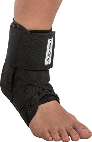 DonJoy Stabilizing Pro Ankle Support Brace, Black, XX-Small