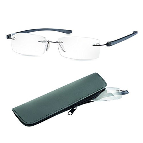 Eschenbach +3.5 Diotper Ready Reading Glasses - Anthracite Frame Large