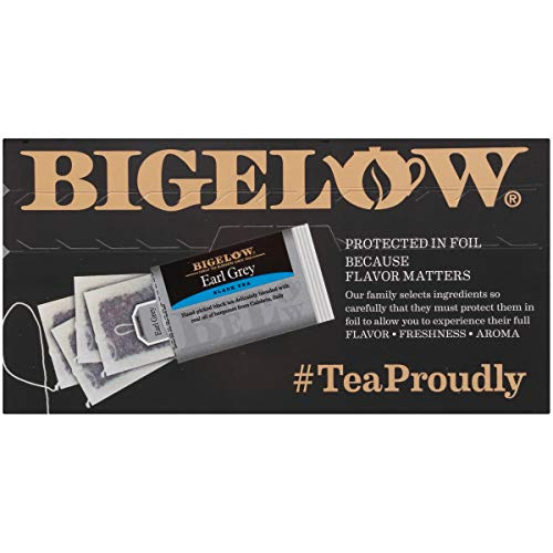 Bigelow Earl Grey Tea 40 Bags (Pack of 6), 240 Tea Bags Total. Caffeinated Individual Black Tea Bags, for Hot or Iced Tea, Drink Plain or Sweetened with Honey or Sugar