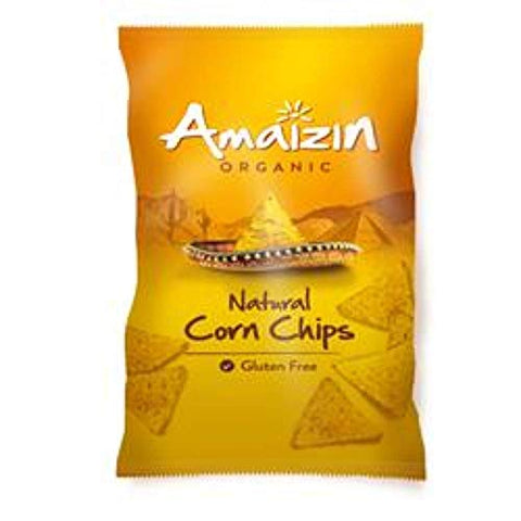 Amaizin Org Natural Corn Chips 250g (1 Pack)