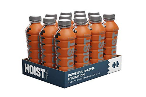 Hoist Premium Hydration Isotonic Electrolyte Drink, Powerful IV-Level Hydration, Orange, 16 Fl Oz (Pack of 12)
