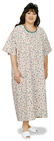 Essential Medical Supply King and Queen Size Patient Gown - Fits Up to 3 XL