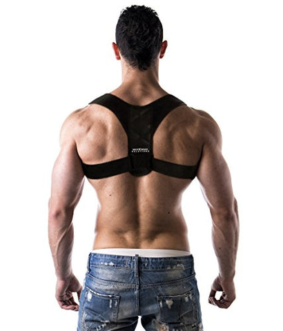Advanced Posture Corrector by Back Brace Solutions Improve Your Posture Now and Feel The Amazing Benefits/Pain Relief Unisex Support Designed to Eliminate Bad Posture Slouching Hunching (Large/XL)