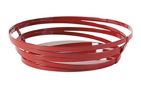 9 x 7 Oval Red Powder Coated Metal Wire Serving Basket, Cyclone Collection by GET WB-972-R