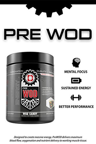 PREWOD Pre Workout - Creatine Free Nitric Oxide (NO) Boosting Preworkout Supplement | Caffeine, Citrulline Malate, Beta Alanine | Focus & Energy Drink Powder (Watermelon Thruster)