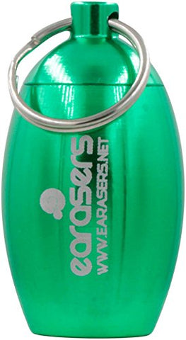 Earasers Ear Plug Carrying Case Green