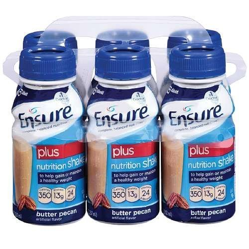 Ensure Plus Nutrition Shake, 8 fl oz, Butter Pecan 6 ea