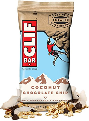 CLIF ENERGY BAR 36 Count, iYdVEBS COCONUT CHOCOLATE CHIP