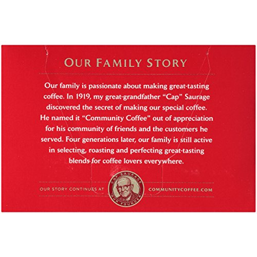 Community Coffee & Chicory Single Serve K Cup Compatible Pods, Box Of 72 Pods