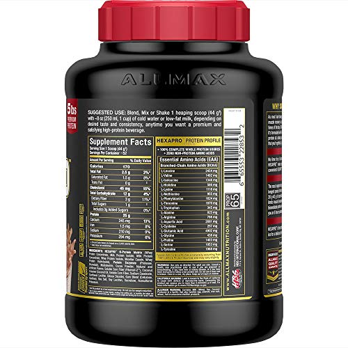HEXAPRO - Ultra-Premium  6 High Quality - Sustained-Release Protein Matrix - Chocolate - 5 Pound