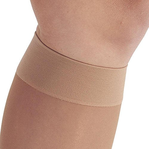 Ames Walker AW Style 16 Sheer Support 15 20mmHg CT Knee High Stockings Nude SM