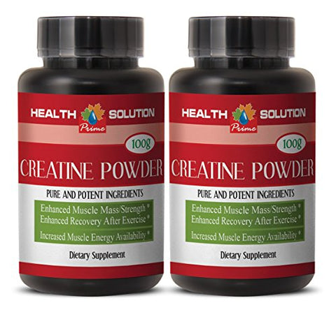 Creatine monohydrate Pure - CREATINE Powder 100g - Produce More Energy (2 Bottles)