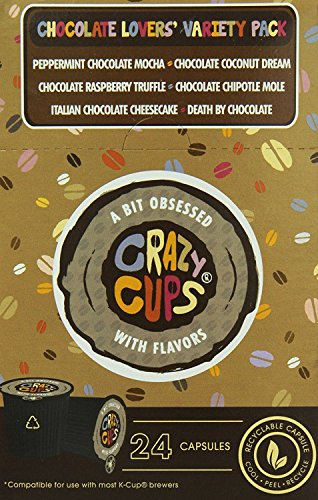 Crazy Cups Coffee Chocolate Lovers Single Serve Cups Variety Pack Sampler For The Kã'â Cupã'â Brewer