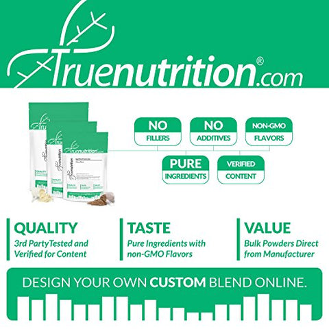 True Nutrition Micellar Casein Protein | 3rd Party Tested | Made in The USA (Unflavored 1 lb.)