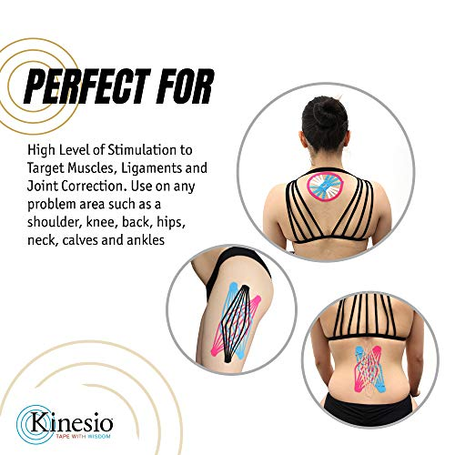 Kinesio Taping   Kinesiology Tape Tex Gold Fp   Black   2 In.