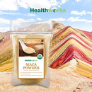 Image of Healthworks Maca Powder Raw (16 Ounces / 1 Pound) | Certified Organic Flour Use | Keto, Vegan & Non-GMO | Premium Peruvian Origin | Breakfast, Smoothies, Baking & Coffee | Antioxidant Superfood
