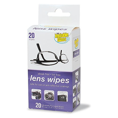 Invisible Glass Lens Cleaning Wipes - 20 count, 90102-20PK