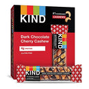 Image of KIND Bars, Dark Chocolate Cherry Cashew + Antioxidants, Gluten Free, 1.4 Ounce (12 Count)