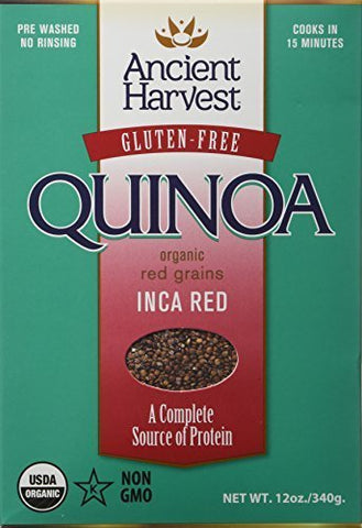 Ancient Harvest Organic Inca Red Quinoa (Pack of 2) 12 oz Boxes, Wheat Free by Ancient Harvest