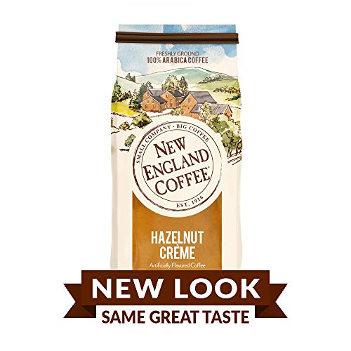 New England Coffee Hazelnut Creme, Medium Roast Ground Coffee, 11 Ounce (1 Count) Bag