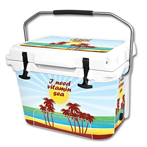 MightySkins Skin Compatible with RTIC 20 qt Cooler (2016)  Vitamin Sea | Protective, Durable, and Unique Vinyl Decal wrap Cover | Easy to Apply, Remove, and Change Styles | Made in The USA