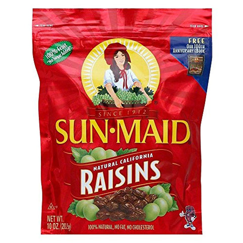 Sun Maid Natural California Raisins, 10 Ounce (Pack of 12)