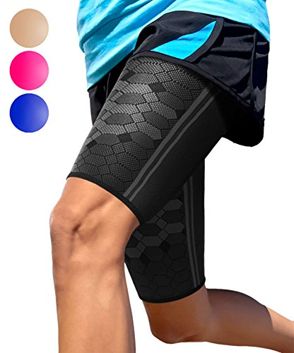 Sparthos Thigh Compression Sleeve (Pair) â?? Upper Leg Brace For Men And Women Support For Bruised T