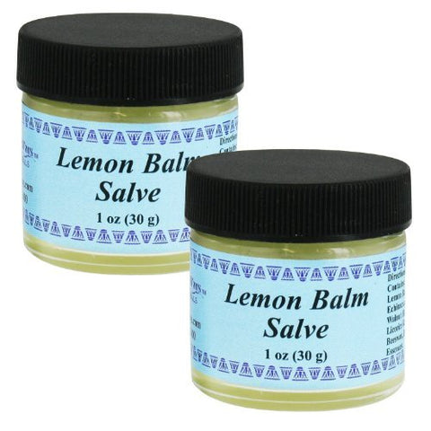 WiseWays Herbal Natural Skin Care Lemon Balm Salve, 1 Ounce, 2 Pack
