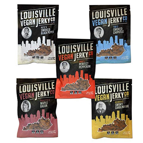 Louisville Vegan Jerky - Variety Pack (Pack of 5)