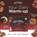 Image of Mushroom Coffee By Four Sigmatic, Organic Instant Mushroom Coffee With Cordyceps And Chaga Mushrooms