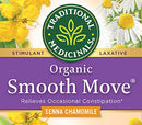 Image of Traditional Medicinals Organic Smooth Move Senna Chamomile Laxative Tea, 16 Tea Bags (Pack Of 6)