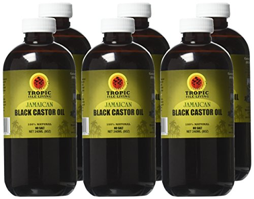 Tropic Isle Living Jamaican Black Castor Oil, 8 oz (Pack of 6)
