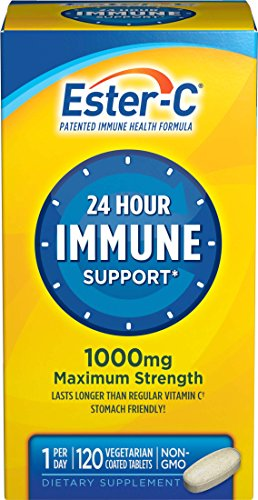Vitamin C By Ester C, 24 Hour Immune Support, 1000mg Vitamin C, 120 Coated Tablets