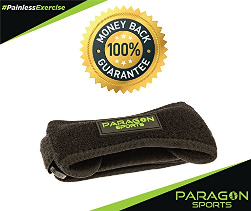Paragon Sports Patella Knee Strap, Adjustable Patellar Tendon Support Band, Pain Relief Brace for Running, Fitness, Stairs Climbing, Basketball, Athletics, Jumper's Knee and Chondromalacia by