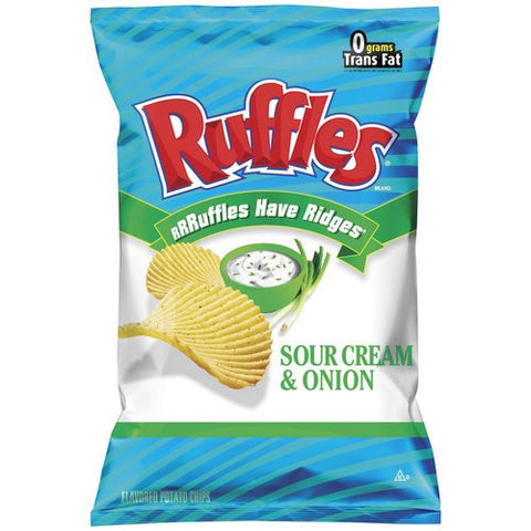 RUFFLES POTATO CHIPS SOUR CREAM & ONION 8.5 OZ