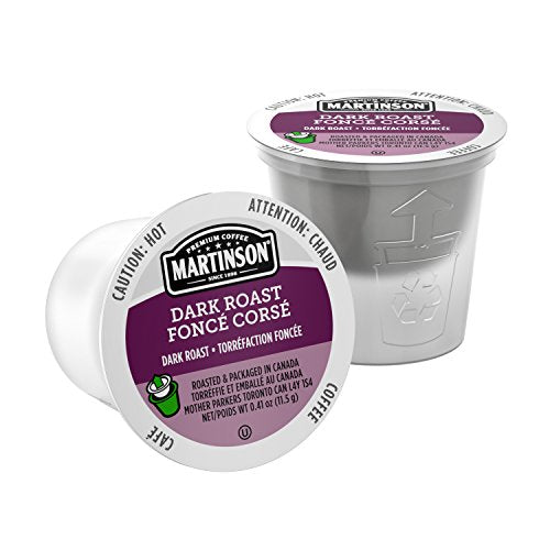 Martinson Single Serve Coffee Capsules, Dark Roast, Compatible with Keurig K-Cup Brewers, 24 Count