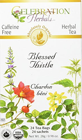 CELEBRATION HERBALS Blessed Thistle Organic 24 Bag, 0.02 Pound