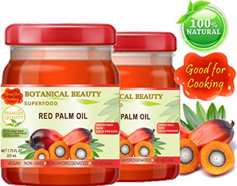 RED PALM OIL. 100% Pure/UNREFINED/EXTRA VIRGIN/Undiluted Cold Pressed. SUPER FOOD. 7.75 Fl.oz ?? 225 ml. (pack 2)