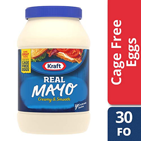 Kraft Real Mayo, 30 fl oz Jar (4jars)