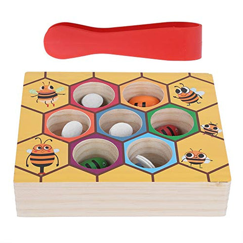 Color Recognition Bee to Hive Matching Game, Matching Game, Early Learning Interesting Wooden for Baby