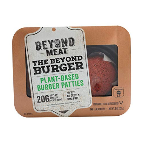 Beyond Meat Plant-based Burger Patties, 8 oz (2 Pack, 4 Patties Total)