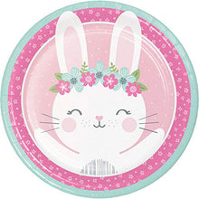 Creative Converting Party Supplies, Bunny Party Paper Plates, Plate Dinner, Multicolor, 8.75