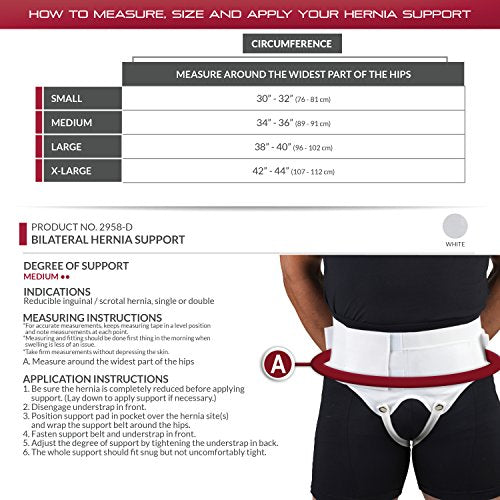 OTC Hernia Support, Single or Double Herniation, Inguinal Scrotal Treatment, X-Large