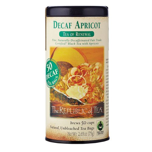 The Republic of Tea, Apricot Decaf Tea, 50 Count