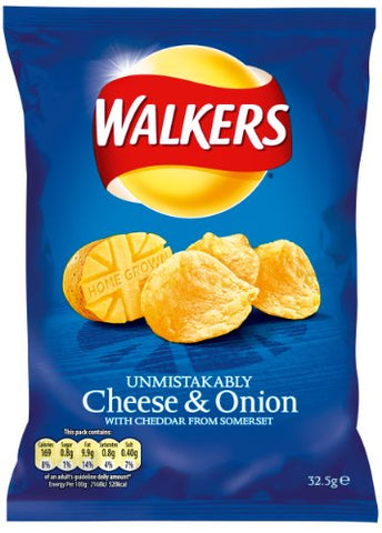 Walkers Crisps Cheese & Onion 48 x 32,5g